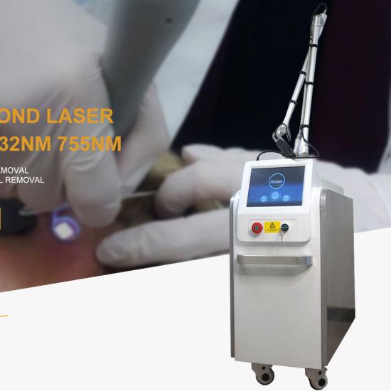 Picosecond Carbon Peeling Skin Whitening Laser Picolaser Tattoo Removal Machine