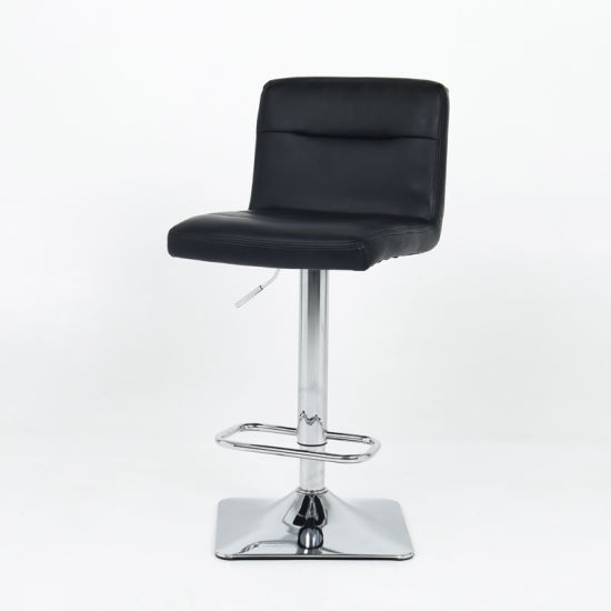 Modern Adjustable Synthetic Leather Swivel Bar Stool Chair