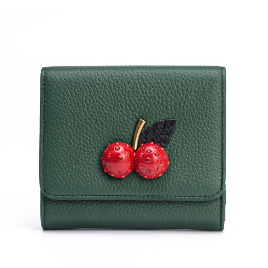 Women Genuine Leather Wallet Designer Fashion Coin Purse