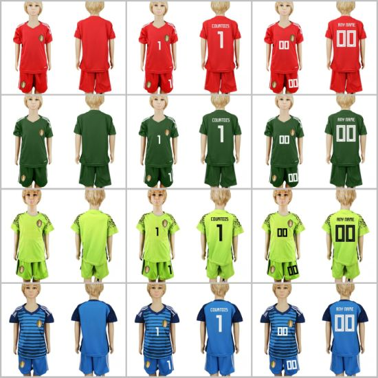 5cf05b2fe93 China Kids Youth Belgium Goalkeepers 2018 World Cup Soccer Jerseys ...