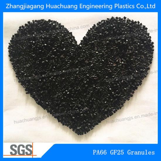 Black Plastic Granules Made of Nylon and Glass Fiber