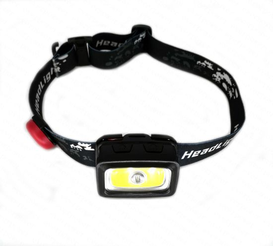 Whistle Miner COB LED Head Light with Red Warning Light pictures & photos