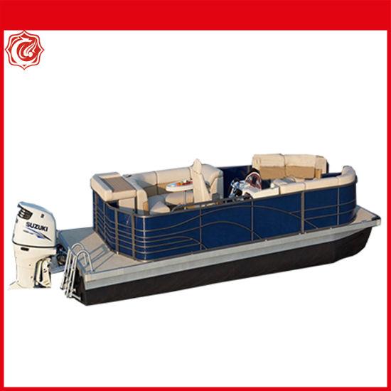 Australia Standard Luxurious High-Quality Aluminum Fishing Pontoon Boat