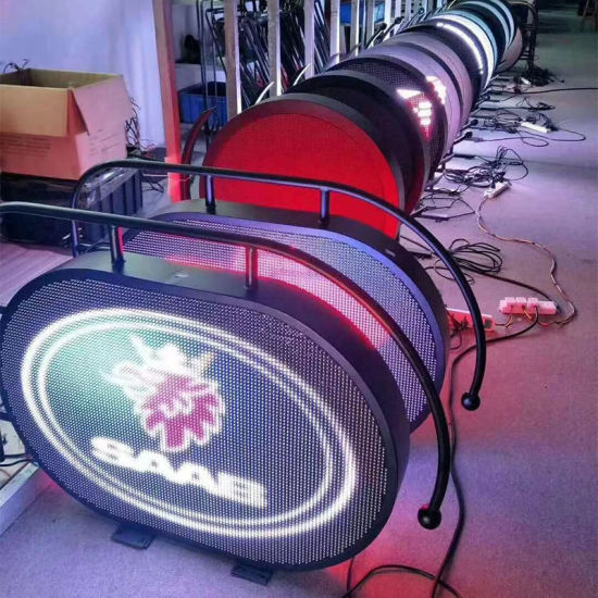 P4mm Double Side IP65 Logo Screen Round LED Display