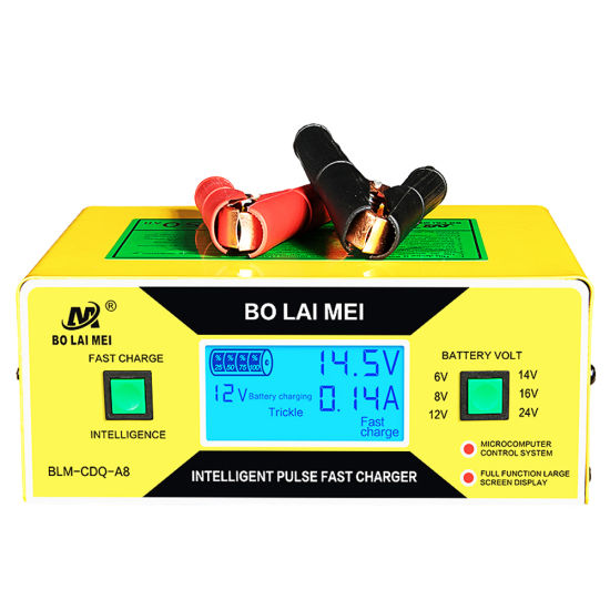 Intelligent 6 V 8 V 12 V 14 V 16 V 24 V 10A Auto Lead Acid Battery Charger