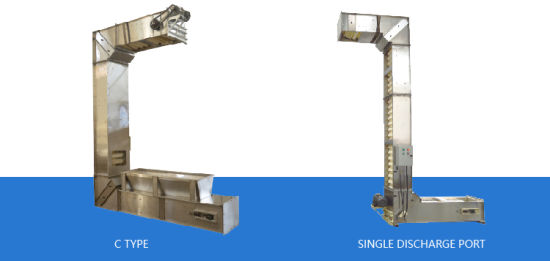 Stainless Steel Z/C Type Chain Bucket Elevator for Seeds