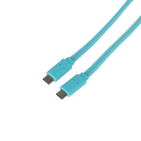 Plastic Injection PVC Braided Cable Type C to Type C USB3.1 for Android Phones Computers Devices Fast Charging Data Sync