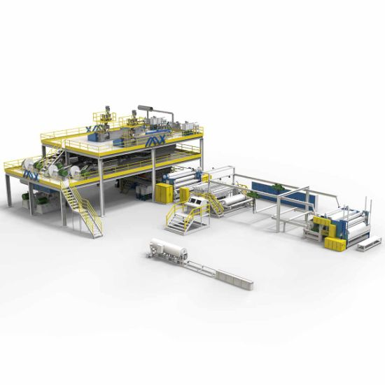 Ss 2400mm PP Spunbonded Non Woven Fabric Making Machine and Meltblown Machine for Baby and Adult Diaper