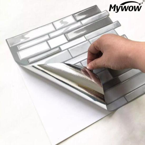 Mywow PVC Plastic Adhesive Vinyl Surface Mosaic Tiles