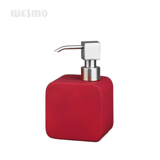 Red Rubber Oil Coated Porcelain Bathroom Set