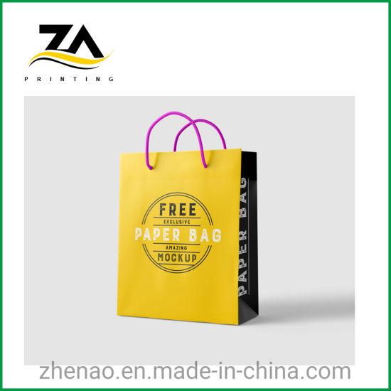 Design Custom Printed Factory Paper Made Custom Tote Bag
