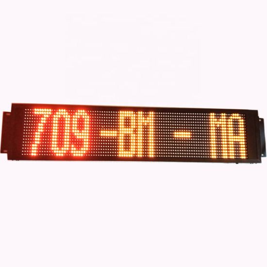 Passenger Information LED Display Board for Bus Front Window