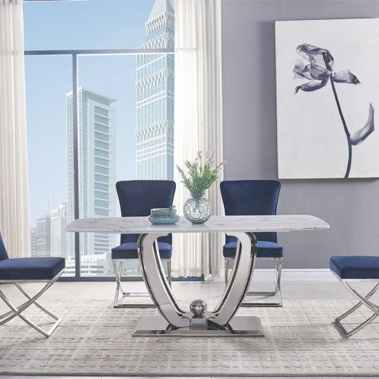 Modern Luxury Furniture Stainless Steel, Washington Square 5 Pc Dining Room