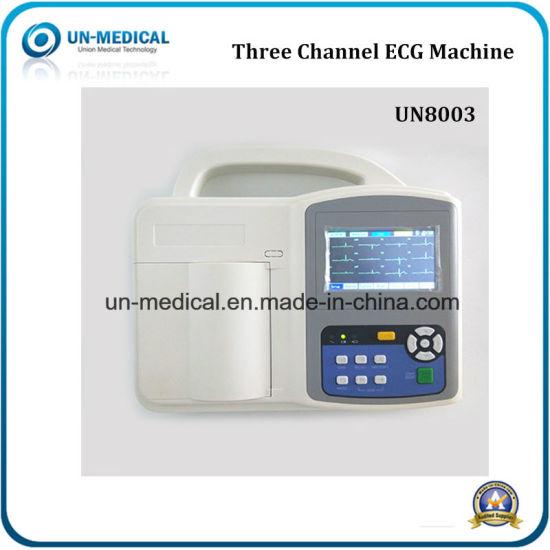 Hospital Supply Three Channel Electrocardiograph EKG ECG Machine (UN-8003)