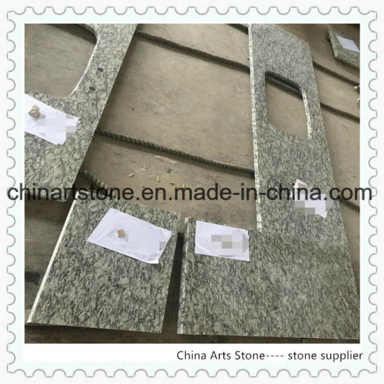 Spray Wave White Granite Countertop for Kitchen