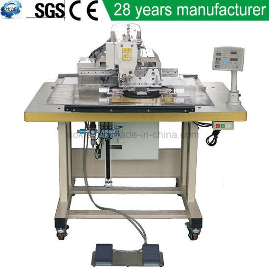 Automatic Programmable Cap Visor Flat Stitching Sewing Machine