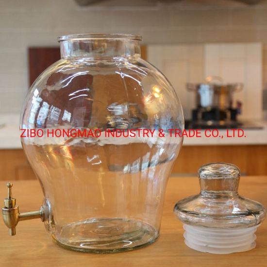 Good Quality 5L Wine and Beverage Dispenser Glass Jar with Spigot