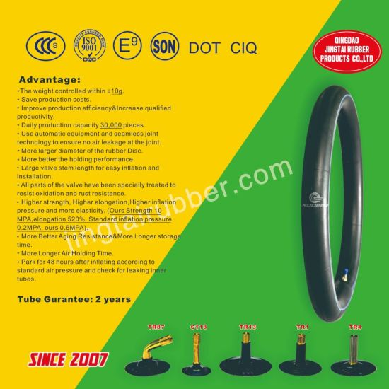 17 Inch OEM Sell Hot Motorcycle Butyl Inner Tube (3.00-17) with ISO CCC ECE