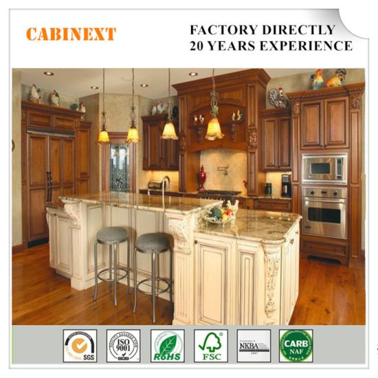 American Standard Luxury Solid Wood Kitchen Cabinets, Classic Home Furnuture