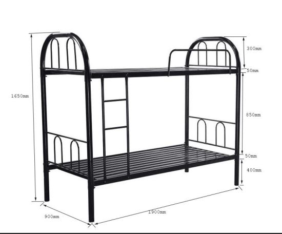 China Military School Dormitory Steel Bunk Bed Frame Steel Metal Bunk Beds China Cheap Labour Bed Middle East Bunk Bed