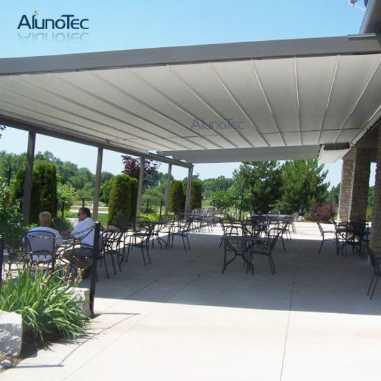 Low Price Waterproof Retractable Roof with LED Lights pictures & photos