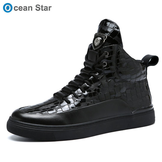 Trendy Ankle Boots Men's High-Top Sneaker Casual Shoes Martin Boots Men
