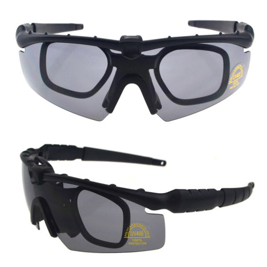 c2eea883a6 Night Vision Yellow Lens Black Airsoft Military Tactical Ballistic Shooting  Glasses Goggles Eyewear