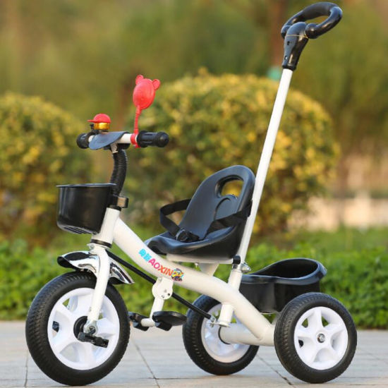 Simple Baby Tricycle Children Tricycle Kids Tricycle with Push Handle pictures & photos