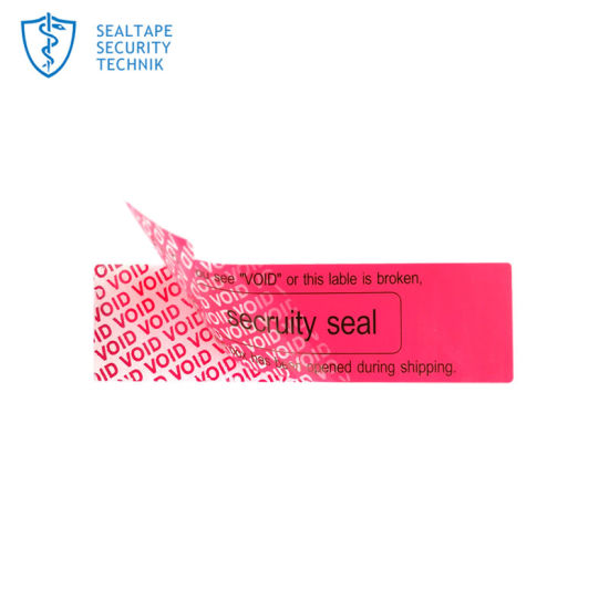 Warranty Adhesive Jar Tamper Proof Seal Adhesive Printing Label Anti  Counterfeit Void Tamper Evident Sticker