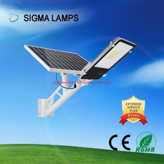 Sigma PIR Human Remote Controlled Motion Night Sensor 30W 60W 90W 120W 150W 200W IP65 Street Solar Powered Charging Split LED Light