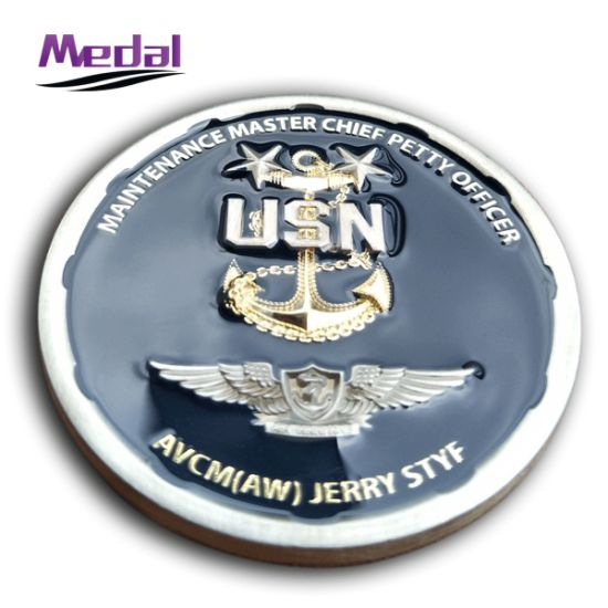 3D Die Casted Bronze Marine Logo Coin pictures & photos