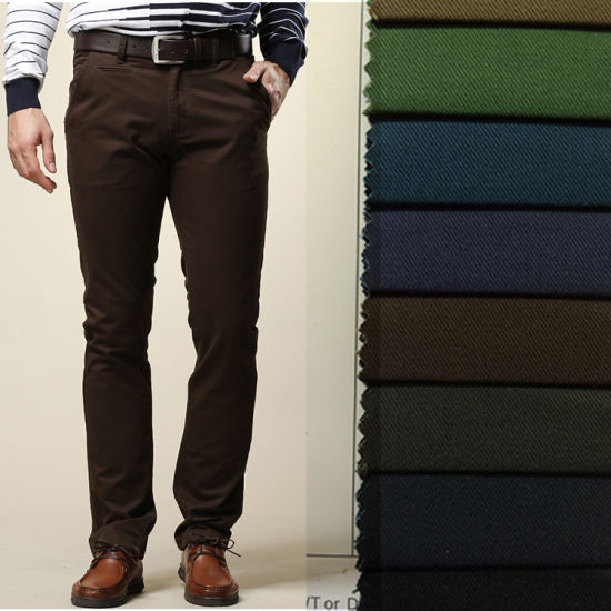 Cotton Spandex Twill Fabric for Trousers Men's or Women's Pants