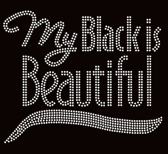 1e66b90c6 My Black Is Beautiful Clear Crystal Iron on Letter Rhinestone Transfer for  Clothing