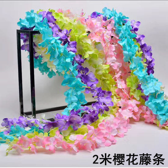 China wholesale artificial hanging wisteria silk flower length 220cm wholesale artificial hanging wisteria silk flower length 220cm for wedding decoration mightylinksfo