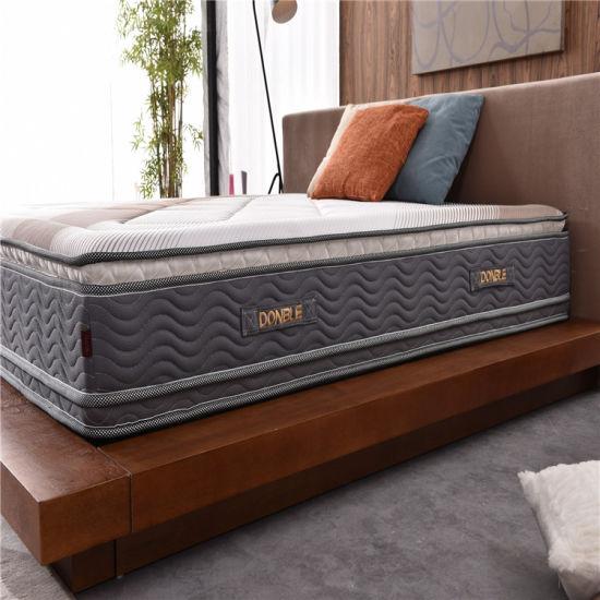 China Double Pillow Top Foam Mattress Topper With Zipper China