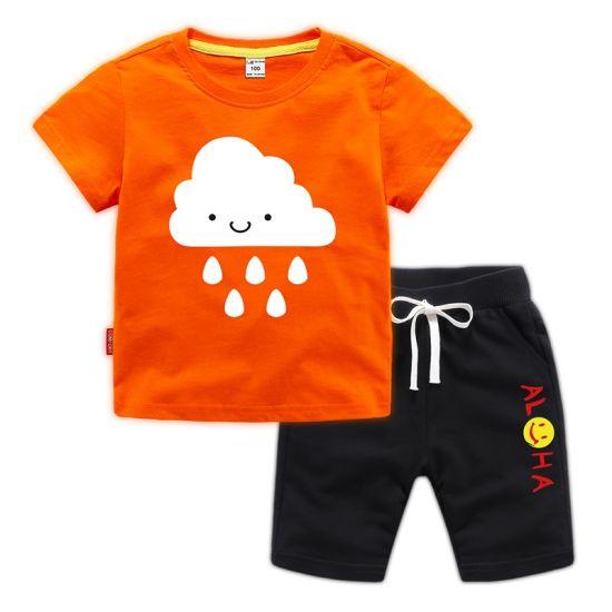 ecb9077d8 New Fashion Children Baby Boys Carton T-Shirt Stripe Shorts Kids Clothes