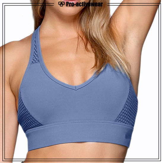 78c2bc712952a Bodybuilding Woman High Impact Sports Bra Polyester Cotton Sports Bra