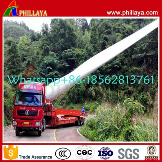 360 Degree Rotatable Wind Turbine Blade Transport Semi Trailer for Wind Generator pictures & photos