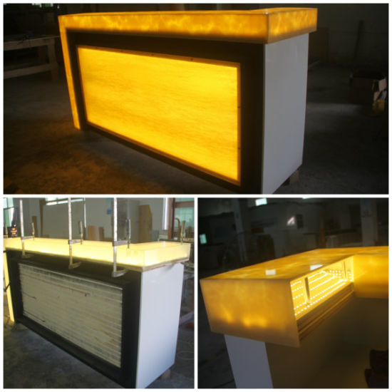 China Rgb Led Translucent Bar Countertop Furniture Acrylic Bar