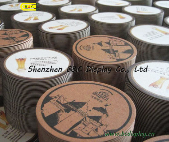 Eco-Friendly Paper Cup Pad of Absorbent Paper Coasters (B&C-G043) pictures & photos
