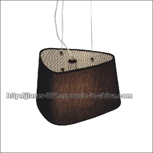 Ce Project Black Hanging Lamp Pendant Light with Fabric Shade (S-2291-1) pictures & photos