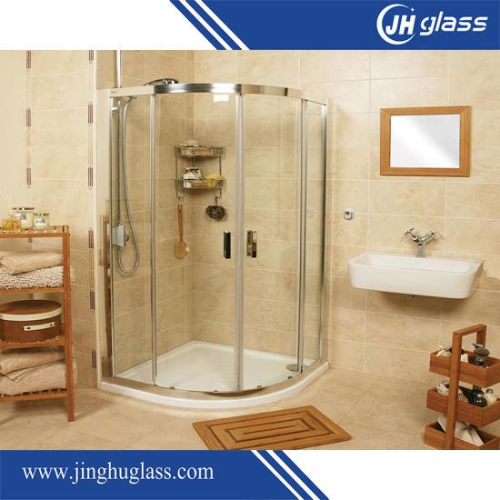 10mm Bent Tempered Glass for Shower Door