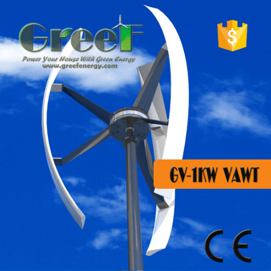 Chinese 1kw Vertical Axis Wind Turbine for Home Use - China