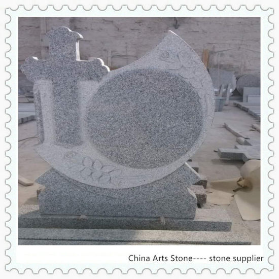 China Simple Cross Granite Headstone for Cemetry pictures & photos