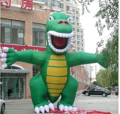 Manufacturers Selling Inflatable Cartoon Green Dinosaur Inflatable Advertising Products (CT-044) pictures & photos