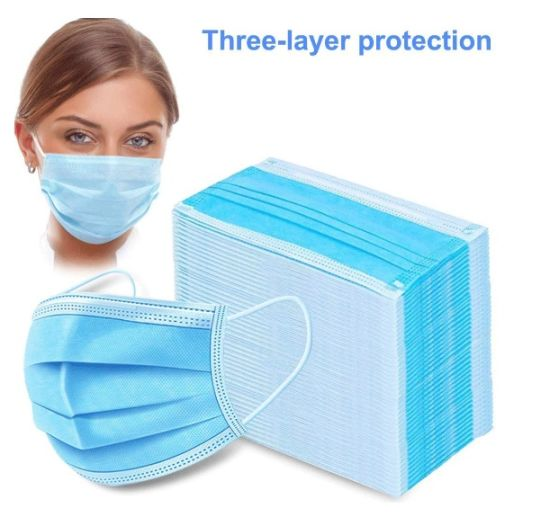 Surgical Disposable Medica Facemask by 3ply Non Woven Fabric
