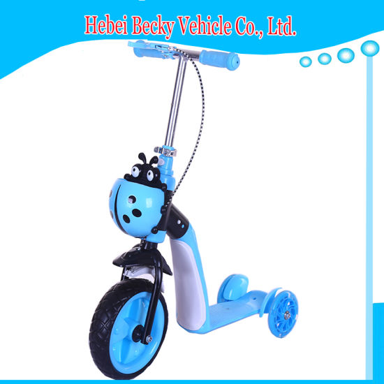 Kids Scooter with Flashing Wheels Height Adjustable Kick Scooter pictures & photos