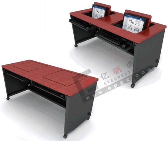 Wooden School Student Smart Desk Table For Computer Room Pictures Photos
