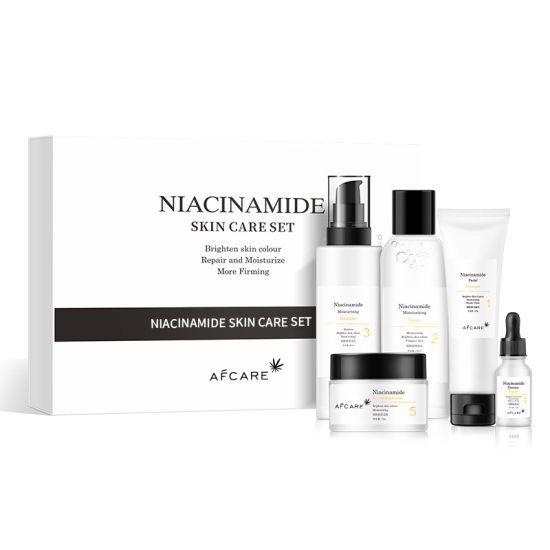 Private Label AMP Niacinamide Whitening Face Serum 10ml Facial Jelly Mask Organic Natural Skin Care Package Set