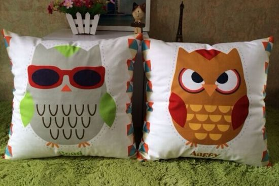 Digital Printed Cushion Cover with Filling pictures & photos